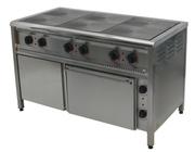 Плита електрична промислова з духовкой на 4 або 6 конфорок - foto 0