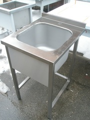 Ванна моечная штампованная,  мойка цельнотянутая из нержавейки - foto 1