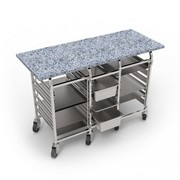 Стол кондитерский с гранитной столешницей,  столы для пиццы с гранитной - foto 0