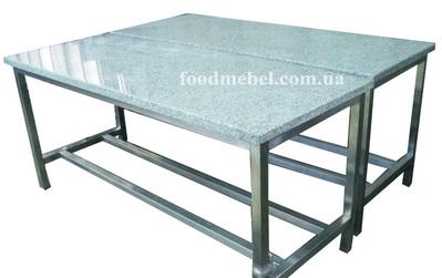 Стол кондитерский с гранитной столешницей,  столы для пиццы с гранитной - main